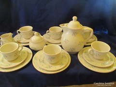 6 személyes Fajansz teás készlet süteményes tányér A058