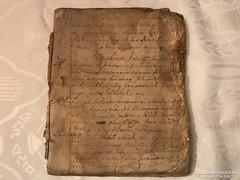 1800-as évek kézzel írott papi hagyaték