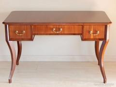 Biedermeier hajlított lábú íróasztal [A04]