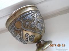 13-16 sz.MAMLUK BIRODALMI-perzsa-iszlám-ezüstberakásos-kávés pohár tartó (1)