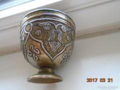 13-16 sz.MAMLUK BIRODALMI perzsa iszlám ezüstberakásos kávés pohár tartó