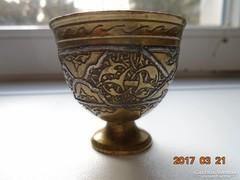 13-16 sz.MAMLUK BIRODALMI-perzsa-iszlám-ezüstberakásos-kávés pohár tartó (3)