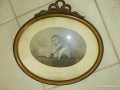 Régi gyermek fotó szép keretben 1926-ból
