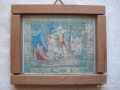 Lengyel , bibliai témájú  tű goblein,  textil kép  , a Noé történetből