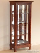 Biedermeier vitrin domború elejű [B02]
