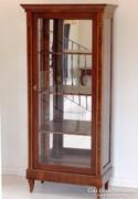 Biedermeier intarziás vitrin [B01]