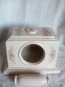 Régi zsolnai telefontartó doboz, nyéllel nagyon jó állapotú