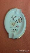 Zsolnay porcelán, virágos,pillangós tálka, hamutál