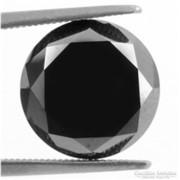 Csodás fekete labor gyémánt/ moissanit Indiából 3,89 ct