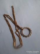Jelzet gold filed  30-40 évekből származó nyaklánc medállal