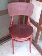 Thonett szék nyomott mintás jelzett, mahagóni lazúrral