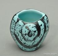 Retró Képcsarnokos váza 9,5cm, gyönyörű, jelzett