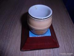 Régi porcelán cigaretta tartó gyufa gyújtóval