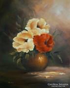Vázában - olajfestmény