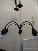 Antik mennyezeti lámpa 5 karral réz ötvözetből