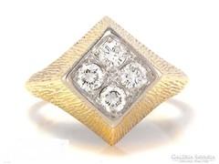 Vintage arany 14k arany gyűrű gyémántokkal 0 40ct