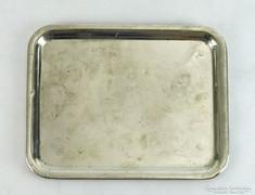 0K514 Antik jelzett ezüstözött alpakka tálca
