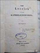 Hoványi : Ujabb levelek a Fensöbb katholicismusról   1855