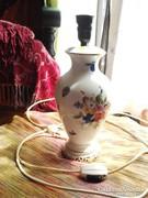 Herendi porcelán gyümölcs mintás lámpa