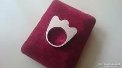 Ezüst gyűrű, különleges egyedi fazon