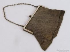 0J843 Antik jelzett ezüst színházi táska