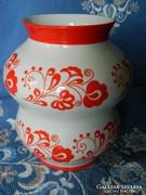 Zsolnay kalocsai mintás porcelán váza