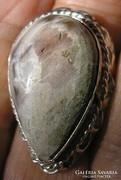 925 ezüst gyűrű 19,9/62,5 mm méretű világos jáspissal