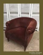 Kis méretű,réz papucsos club fotel