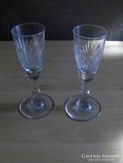 Retro likőrös talpas pohár párban (3/K)
