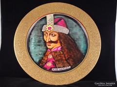 Vlad Tepes Dracula kézzel festett porcelán tál!