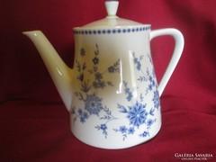 1729  Johann Seltmann kék virágos kávé tea kiöntő kanna