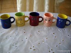 Kerámia kávés csésze 5 db eladó!