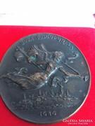 Madarassy Walter: Buda recuperata (1986) öntött bronz érem