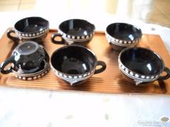 Kerámia kávéskészlet tálcával eladó!