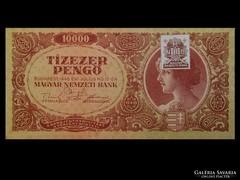 EGY HIBÁTLAN 10000 PENGŐS - BÉLYEGGEL