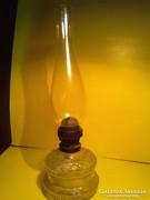 Antik üveg petróleum lámpa