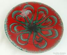 0L587 Jelzett retro kerámia falidísz tál 29 cm