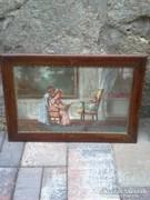 Burghardt Bélaváry Rezső  festmény enteriőr 2 db olaj-vászon