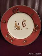 Ritka, korai Fischer Ignác tányér - 1870-es évek