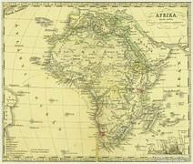 0L618 Antik acélmetszet térkép AFRIKA