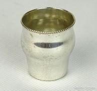 0L466 Antik ezüstözött ARGENTOR keresztelőpohár