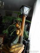 Káldor Aurél : Rikkancs - asztali lámpa - gyűjtői darab!