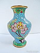 Virágos rekeszzománc váza
