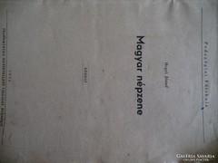Hegyi József Magyar népzene kézirat 1954Állami pedagógia fői