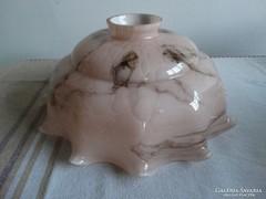 Rózsaszínű opálüveg, rétegelt antik lámpabúra