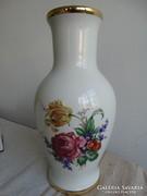 Kézzel festett Hollóháza váza, 30 cm magas