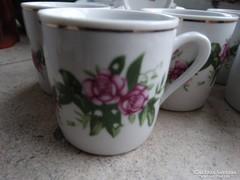 Rózsás kávéskészlet