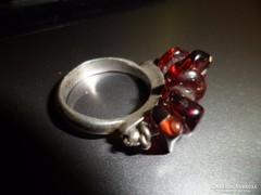 Ezüst gyűrű/ gránát