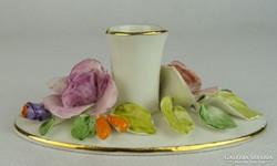 0L684 Virágdíszes porcelán gyertyatartó