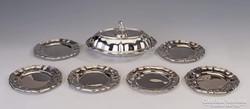 Ezüst 6 darabos tányérkészlet